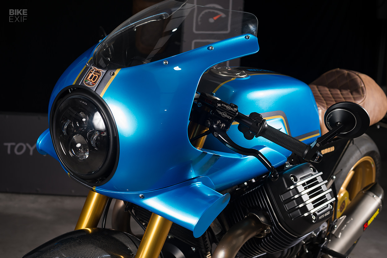 Custom 1,700cc Moto Guzzi cafe racer by Guzzi Motobox