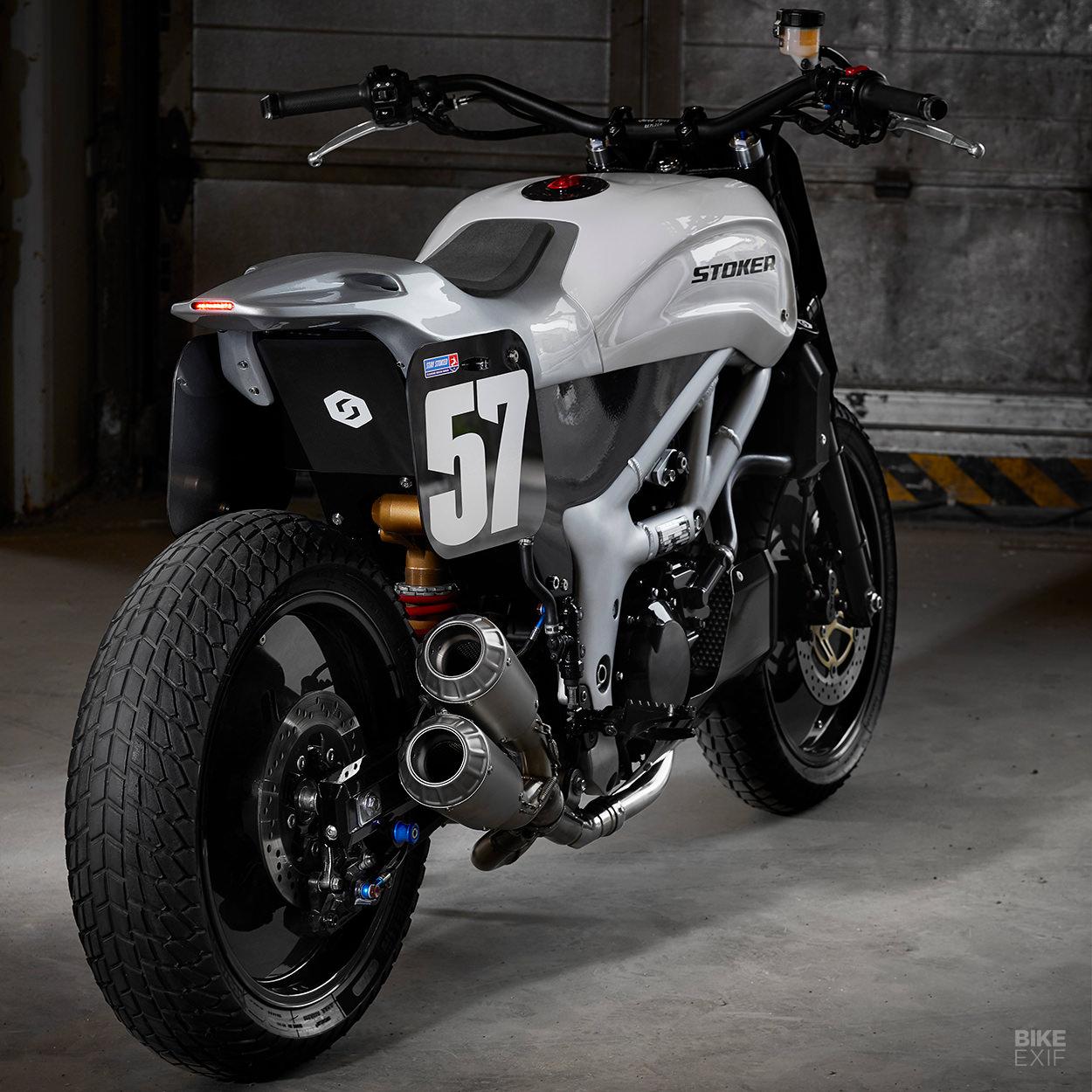 Suzuki SV650 street tracker by Stoker Motorcycles
