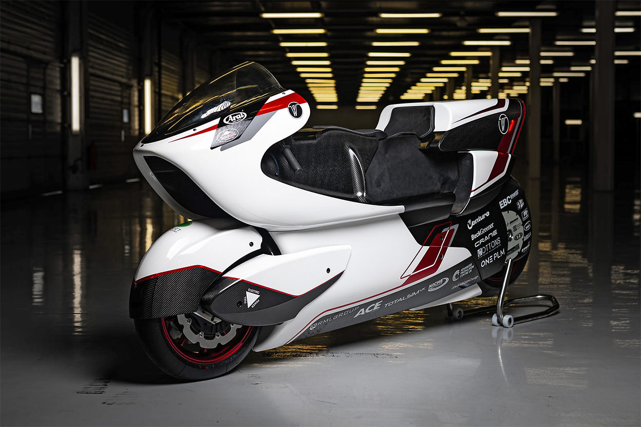 White Motorcycle Concepts electric land speed bike