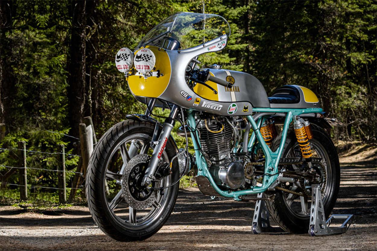 Yamaha SR500E cafe racer by Stu Lloyd