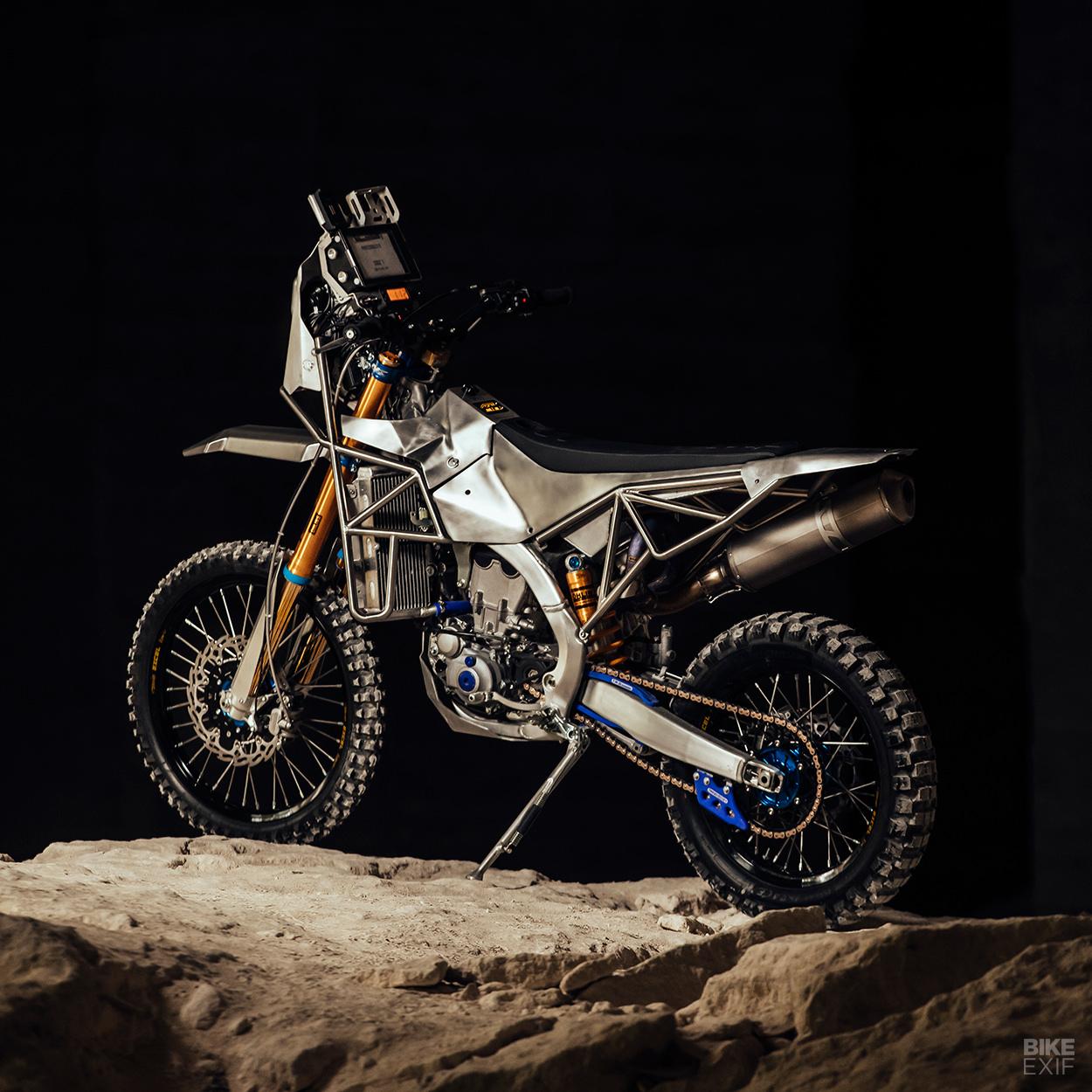 Yamaha WR450F rally raid motorcycle by Le Motographe
