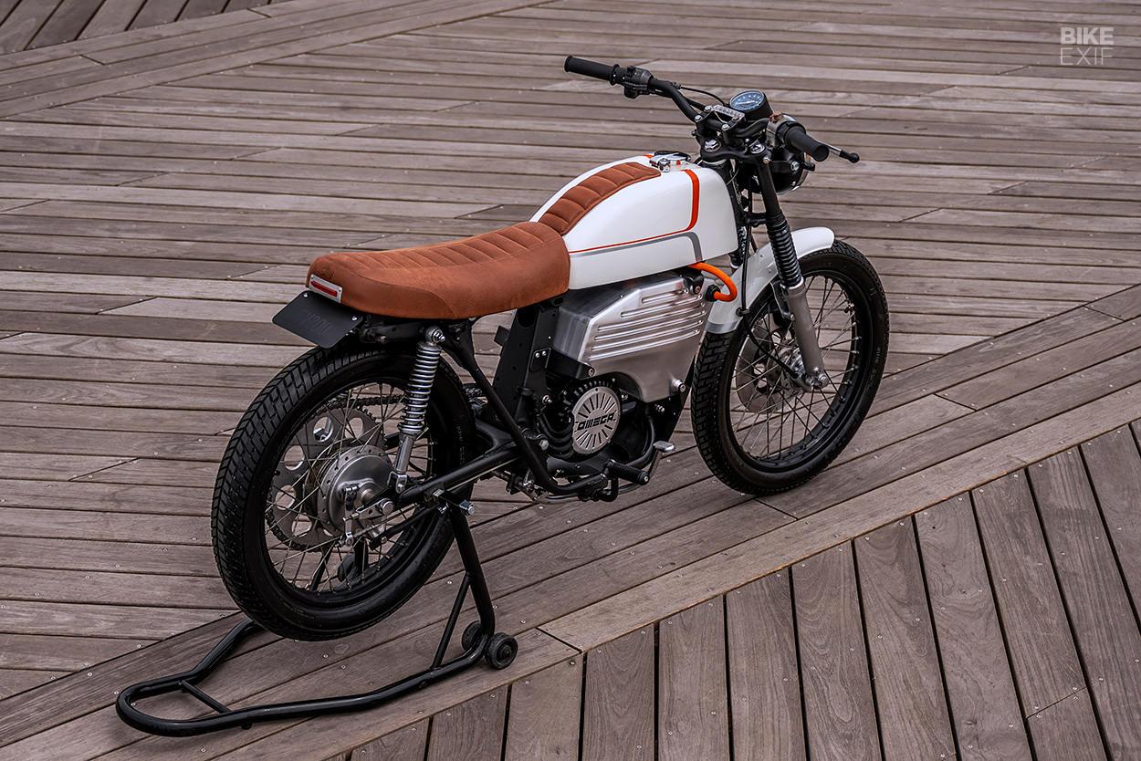 Honda CB200 electric conversion by Omega Motors
