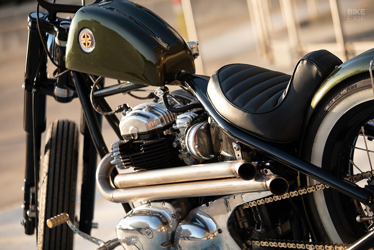 Kawasaki W650 hardtail bobber by Marnitz Venter
