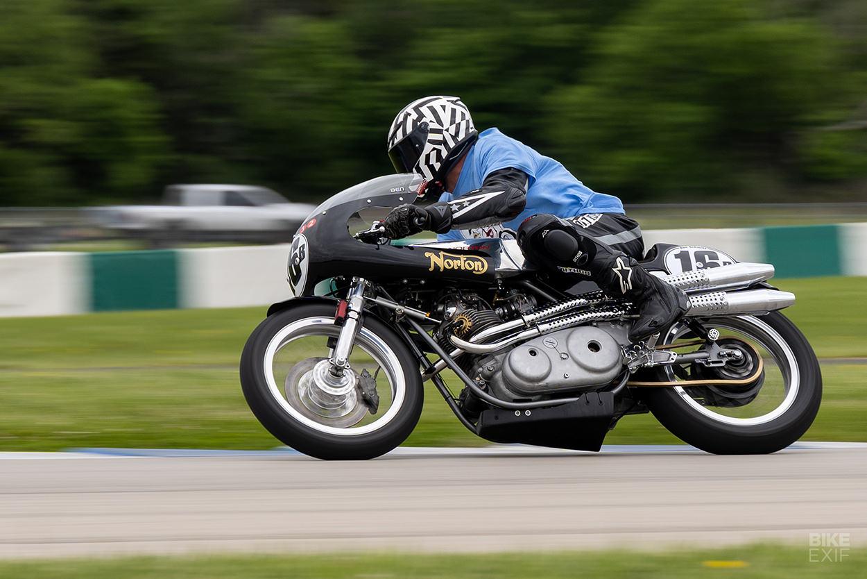 Ben Schmitt on his Norton Commando S racer