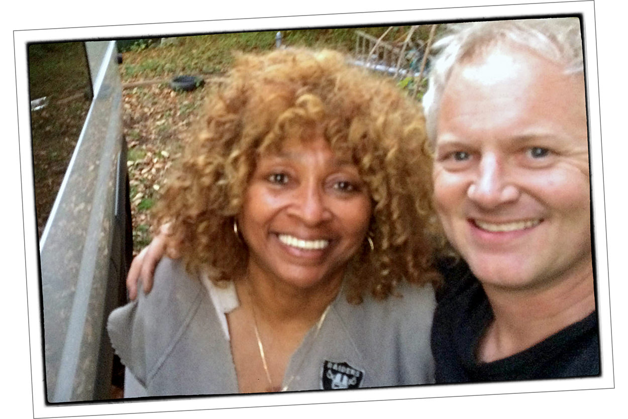 Suzette Dorsey, Tina Turner impersonator, with Kenny Cummings of NYC Norton
