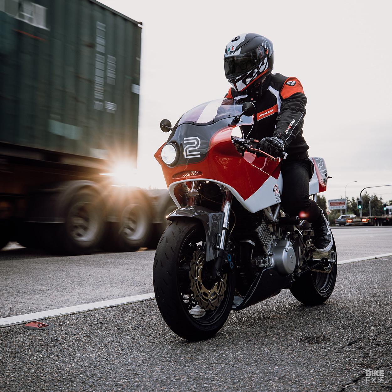 Endurance racer-style custom Yamaha TRX850