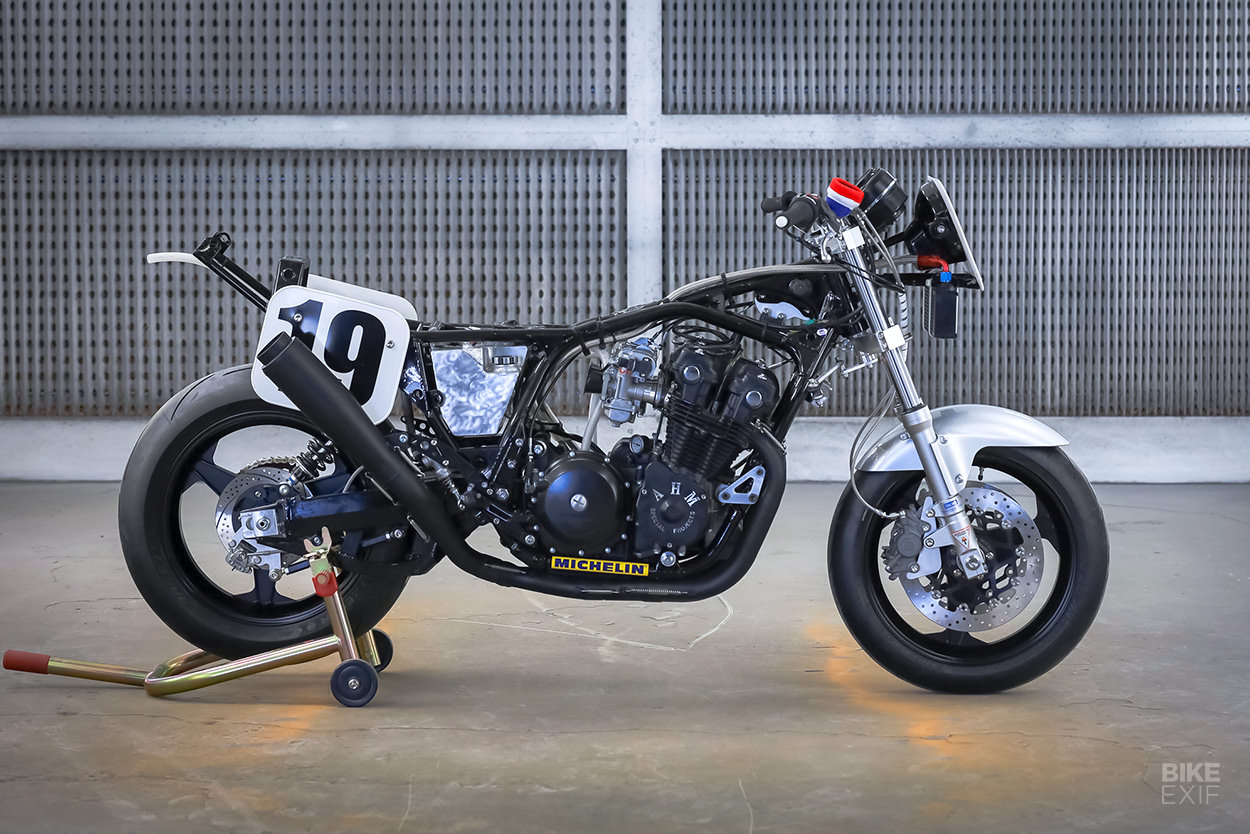 Honda CB750F track bike by dB Customs