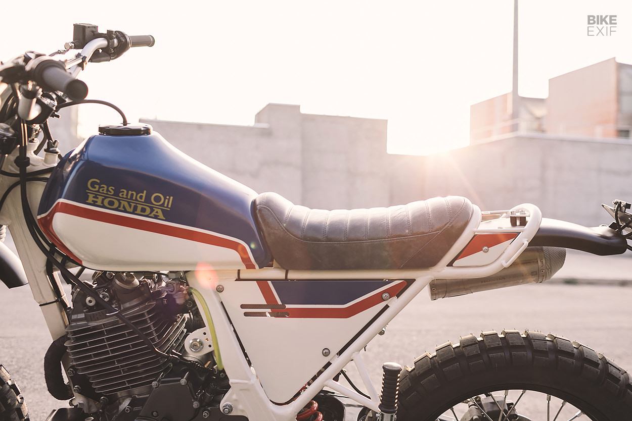 Thierry Sabine tribute Honda Dominator by Gas & Oil Bespoke Motorcycles