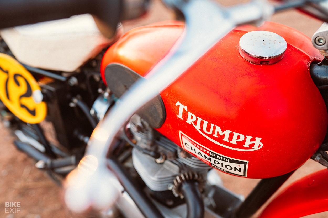 Paul Hartman's 1959 Triumph TR6 desert sled