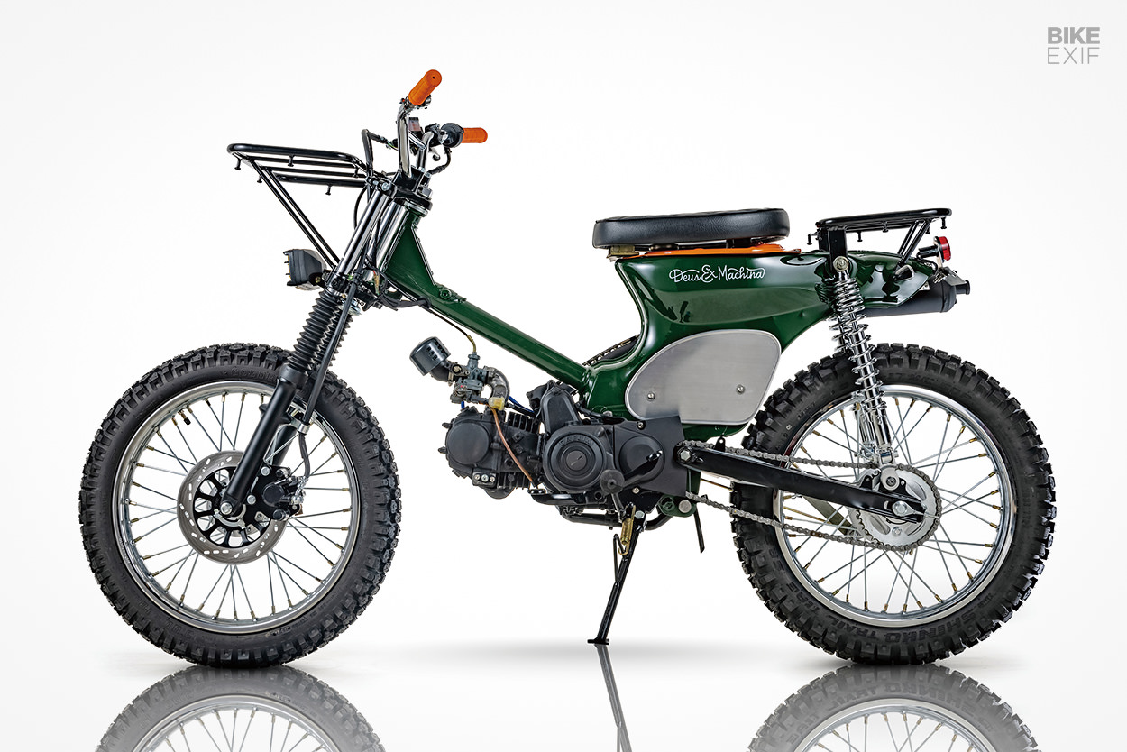 Honda Super Cub scrambler by Crazy Garage for Deus Korea
