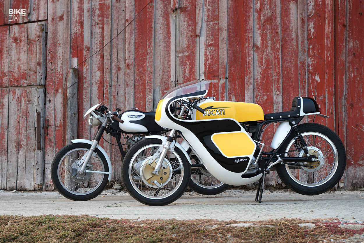A pair of classic Ducati singles from Union Motorcycle Classics