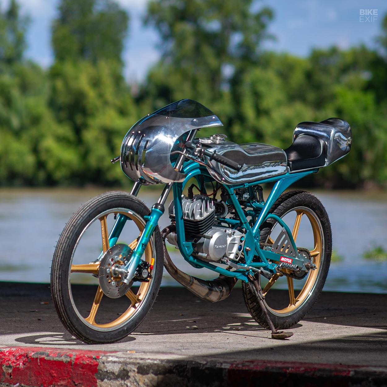 Kawasaki AR80 cafe racer by Omega Racer