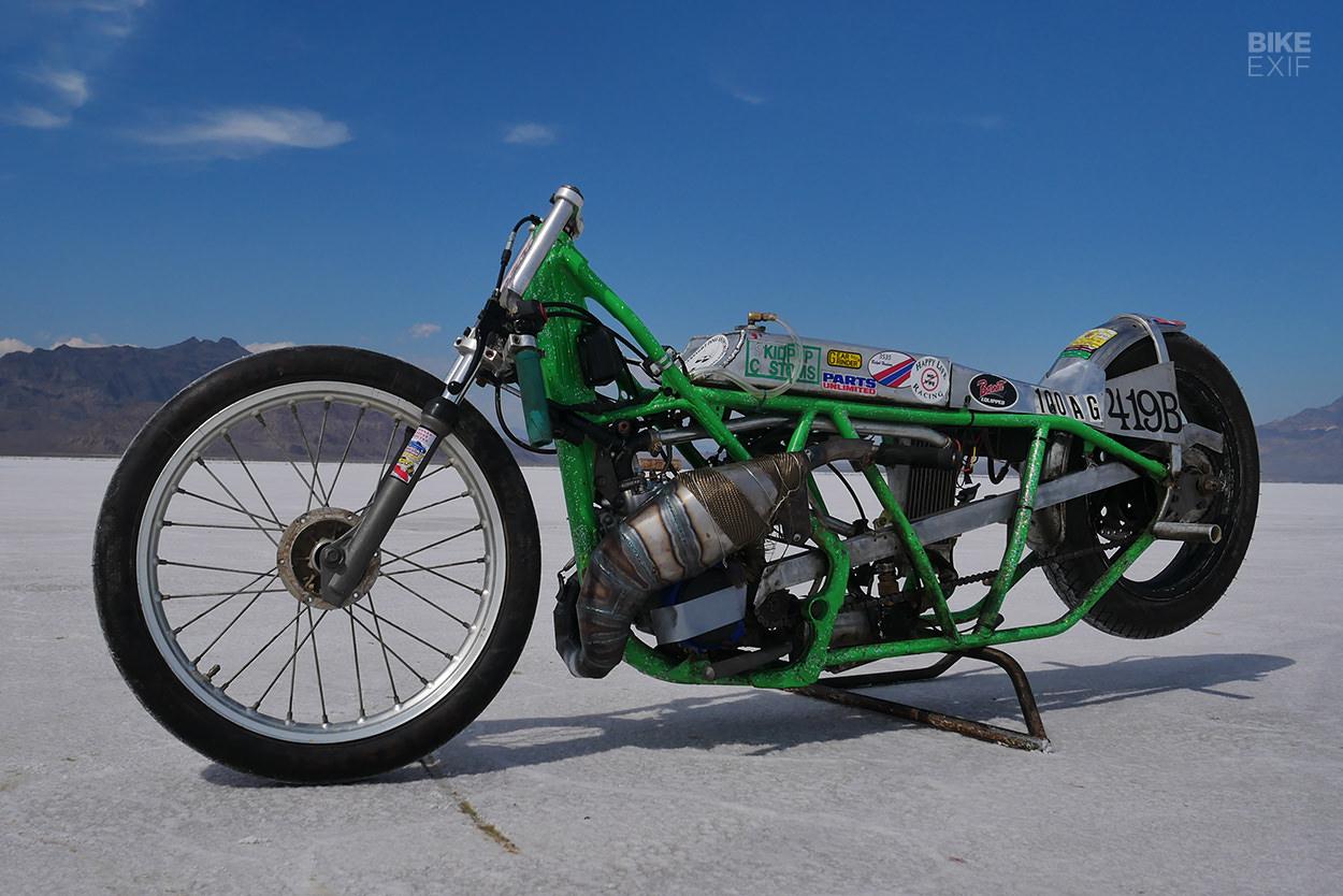 Kawasaki KX100 land speed racer