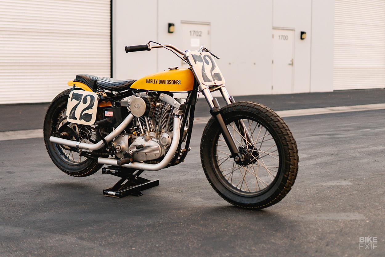 Vintage Harley flat tracker by Paul Hartman